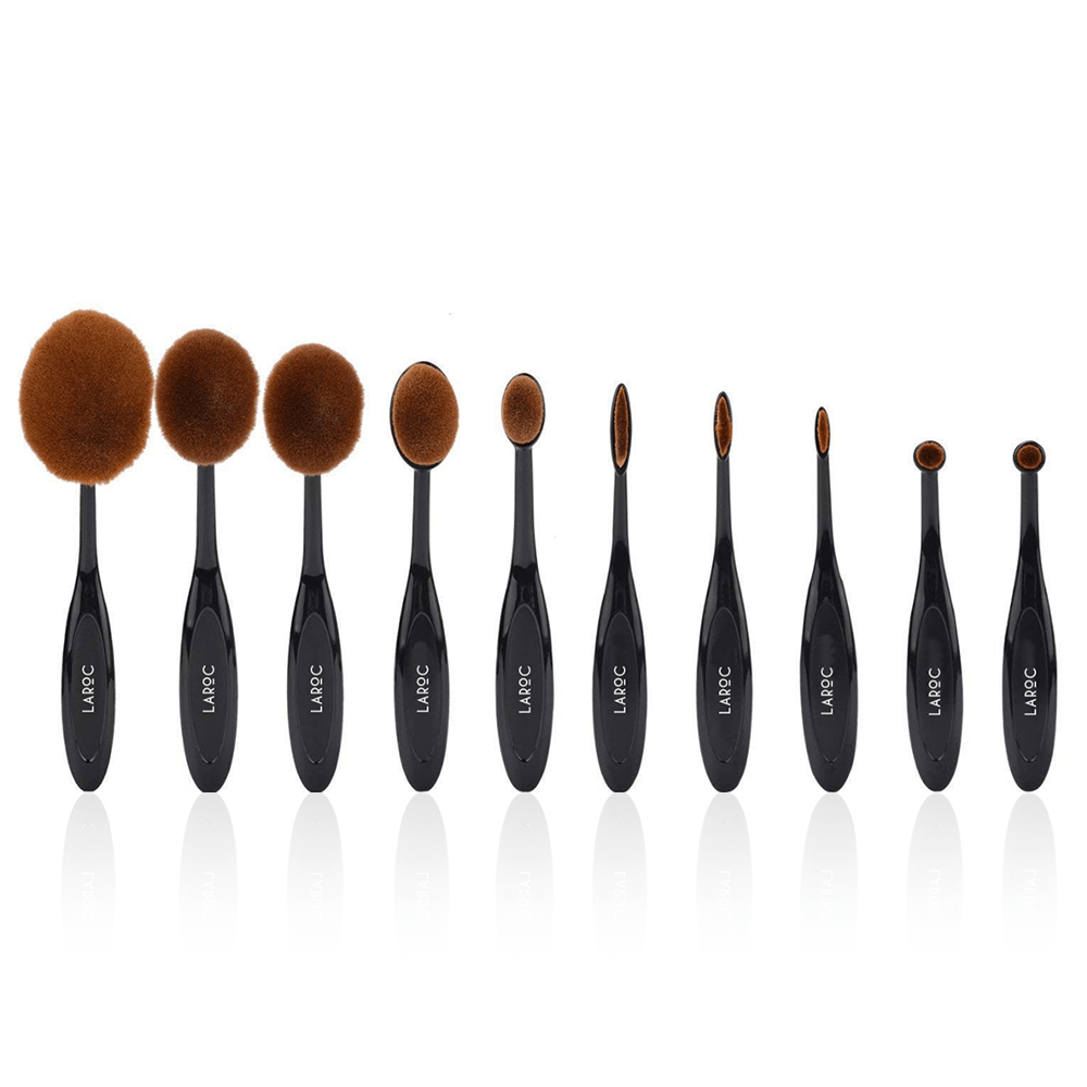 LaRoc 10 Piece Oval Brush Set