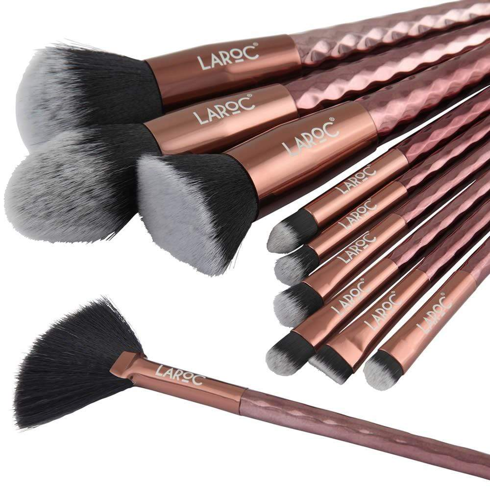LaRoc 10 Piece Diamond Brush Set - Bronze