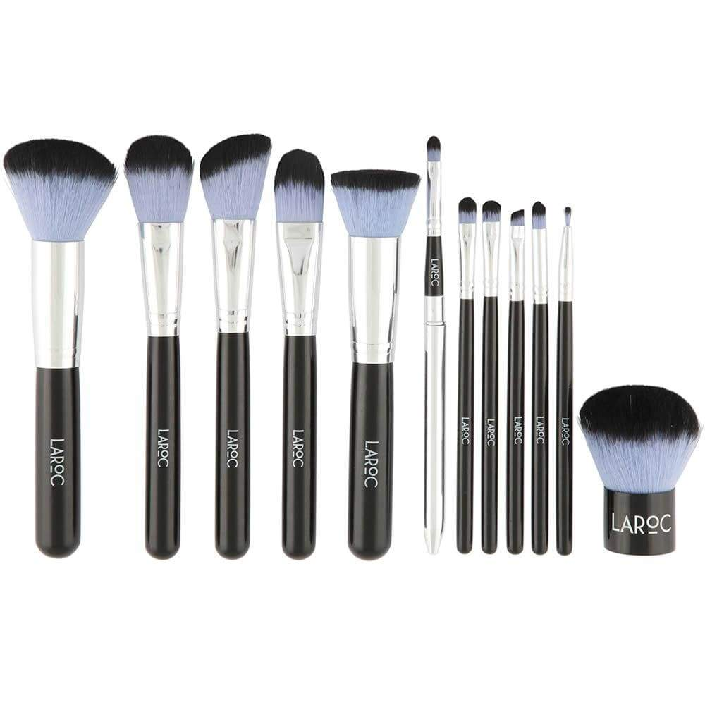 LaRoc 12 Piece Blue Kabuki Brush Set