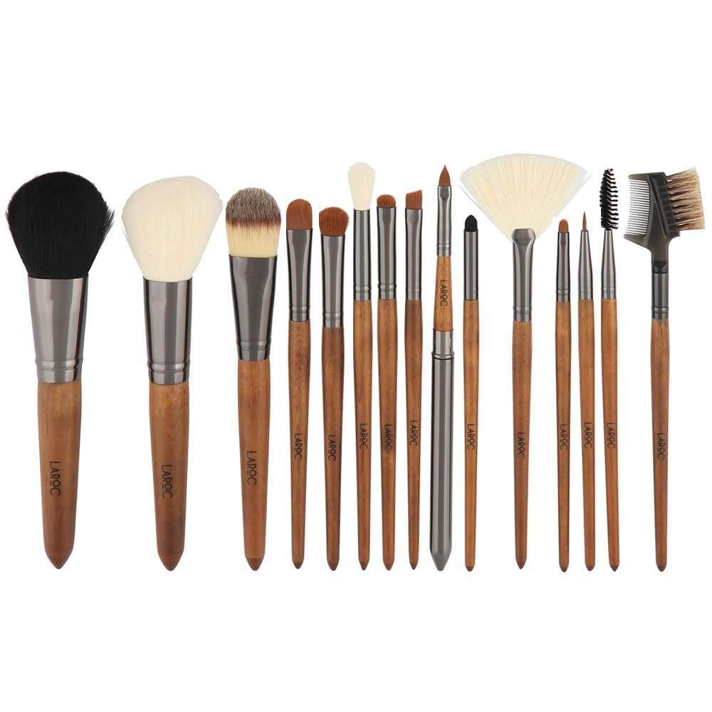 LaRoc 15 Piece Wood Handled Brush Set