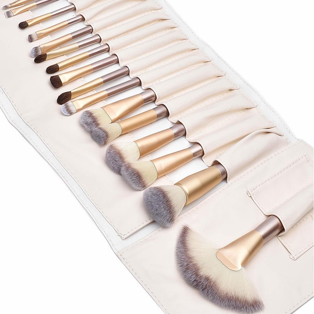LaRoc 24pc Champagne Makeup Brush Set
