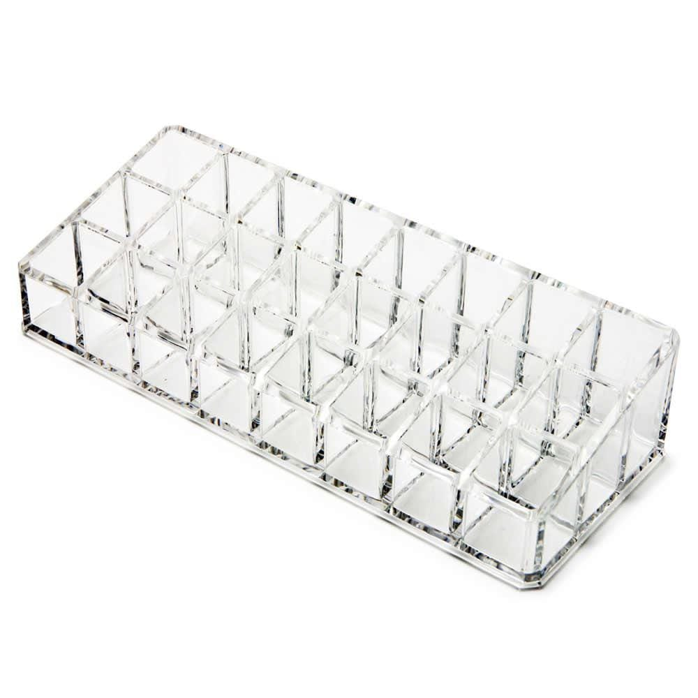 Clear Acrylic Cosmetic Organiser Makeup Lipstick Nail Varnish Display Box Case