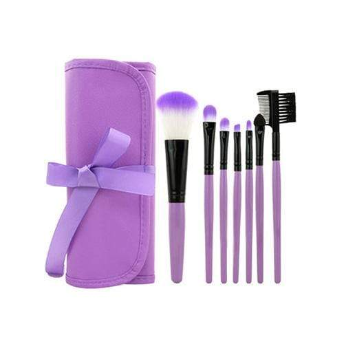 LaRoc 7 Piece Makeup Brush Set - Purple