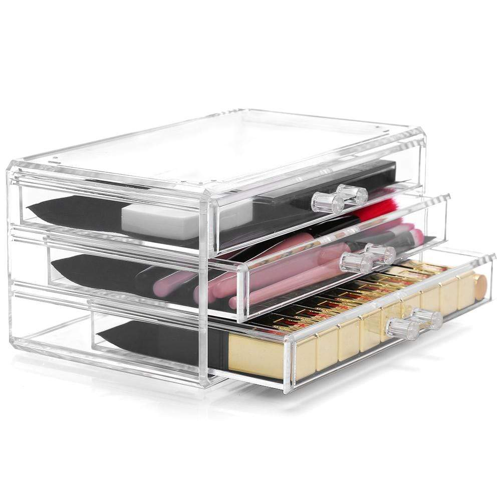 Cosmetic Organiser - Acrylic Three Drawers - LaRoc