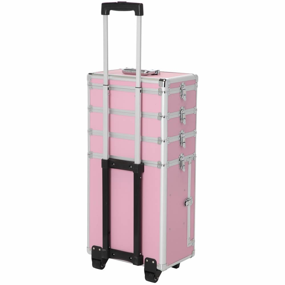 LaRoc Large Makeup Trolley Case - Pink