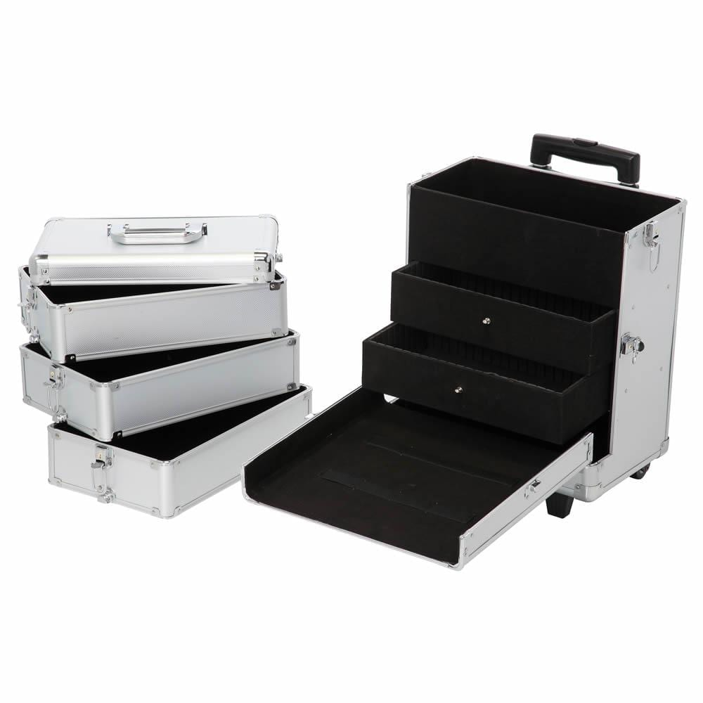 LaRoc Large Makeup Trolley Case - Silver
