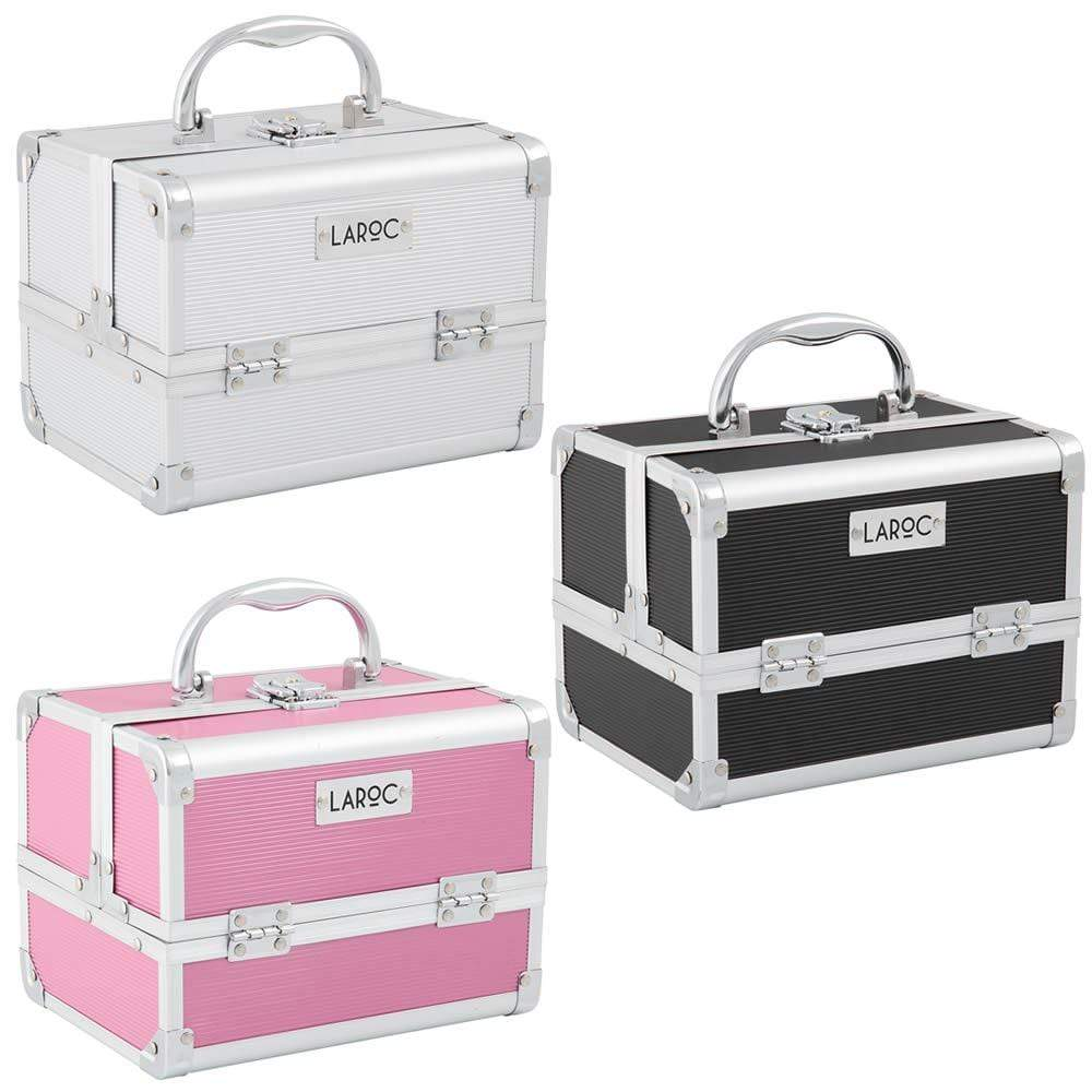 LaRoc Small Aluminium Makeup Case With Mirror