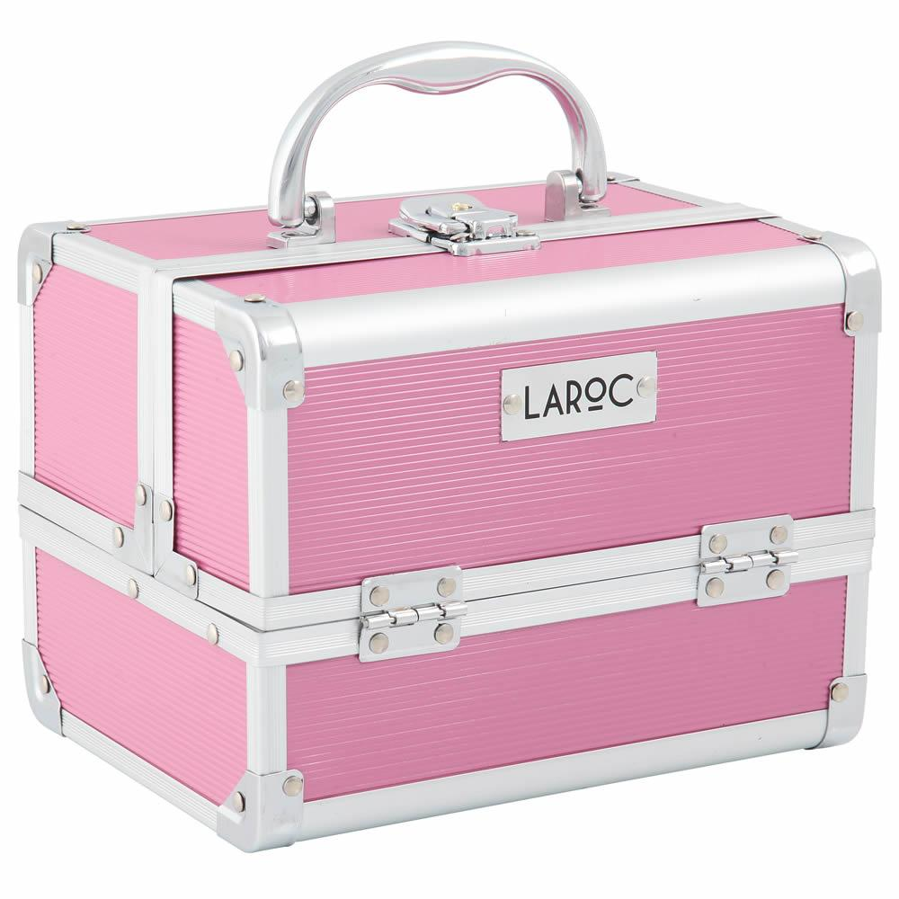 Vanity Case With Mirror - Small, Aluminium - LaRoc
