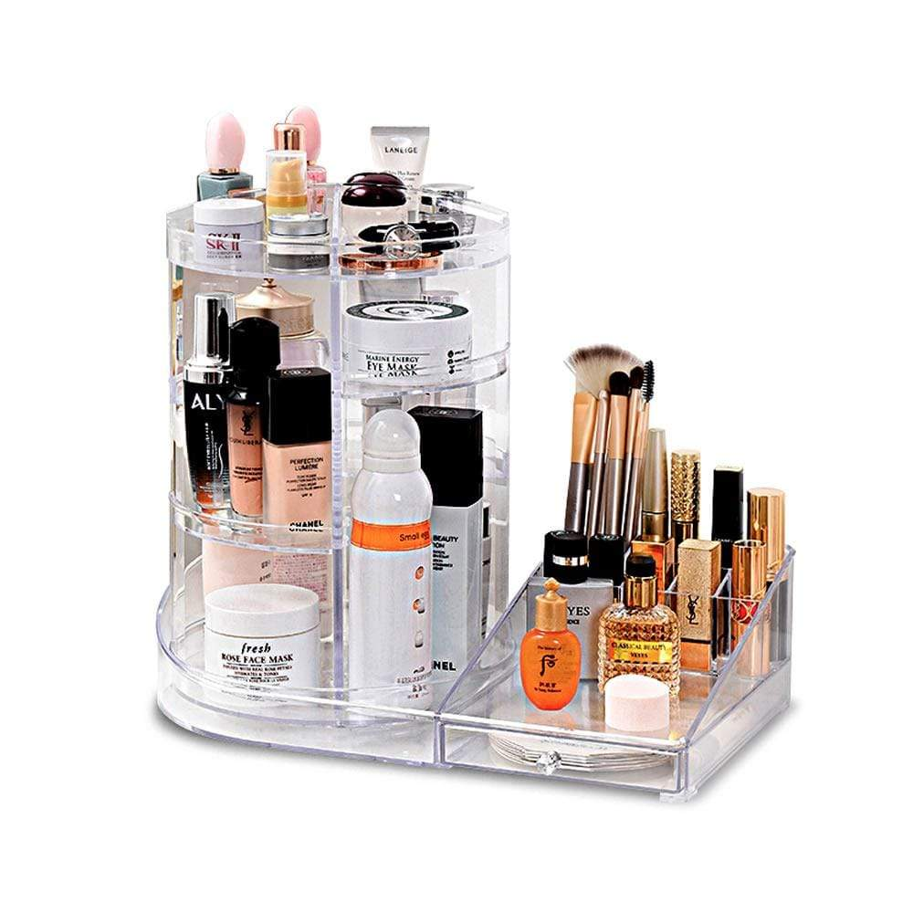 LaRoc Rotating Cosmetic Organiser - Clear