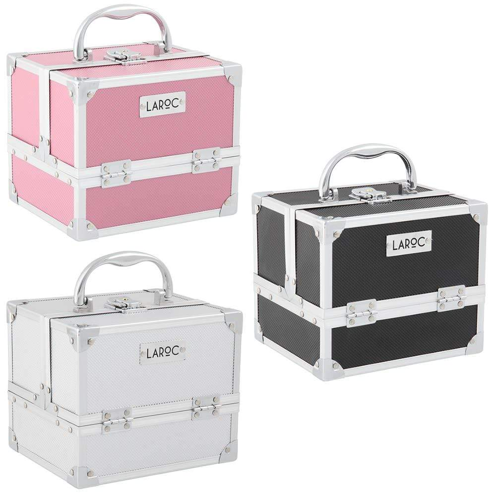 LaRoc Small Aluminium Makeup Case