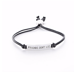 Friends Don't Lie Antique Silver-Plated Bracelet Regular price