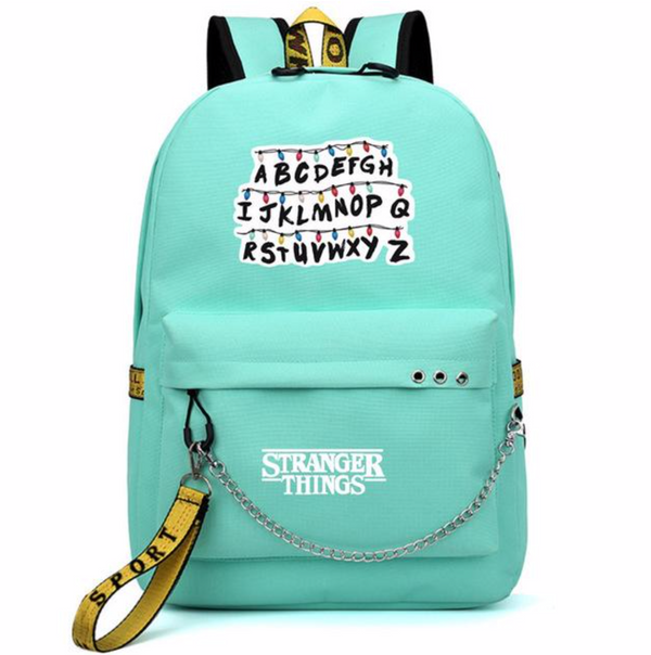 ALPHABET CYAN BACKPACK