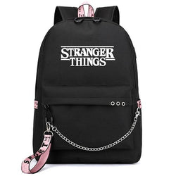 Stranger Things Black Backpack