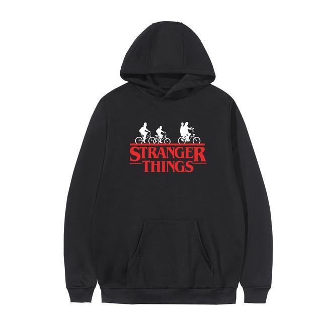Stranger Things Bike Red Logo Hoodie