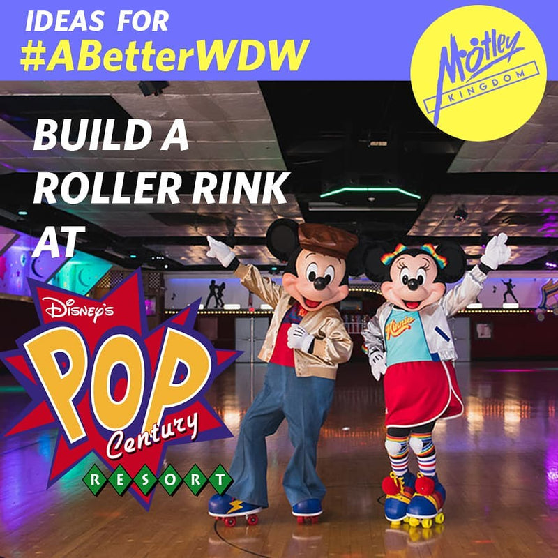 Build a Roller Rink at Pop Century Resort