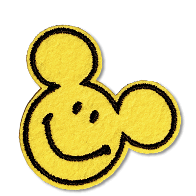 Smiley Mickey Patches