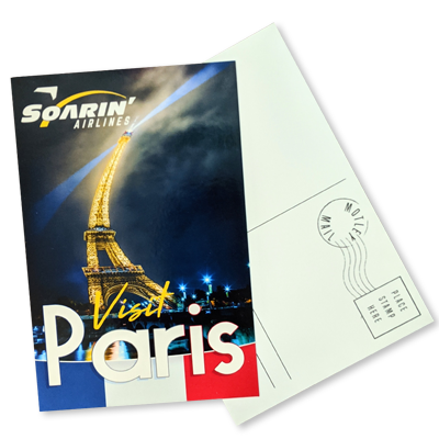 Soarin' Paris Postcard