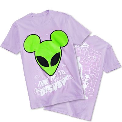 Take Me To Disney alien shirt