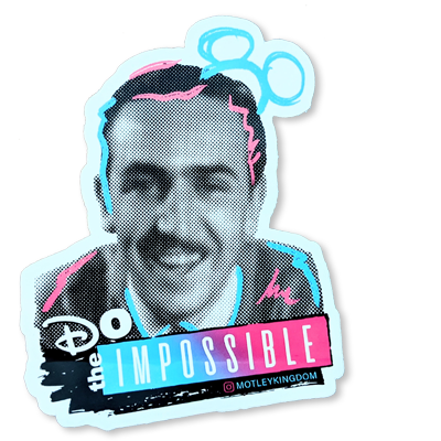 Walt Mickey Ears Sticker