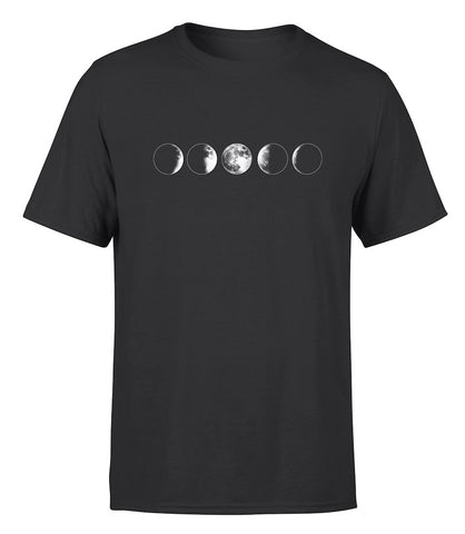 men's t shirt in black with moon design