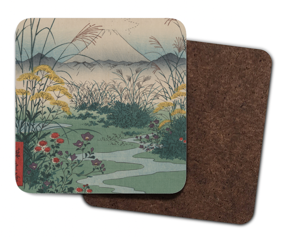 coasters with japanese art design