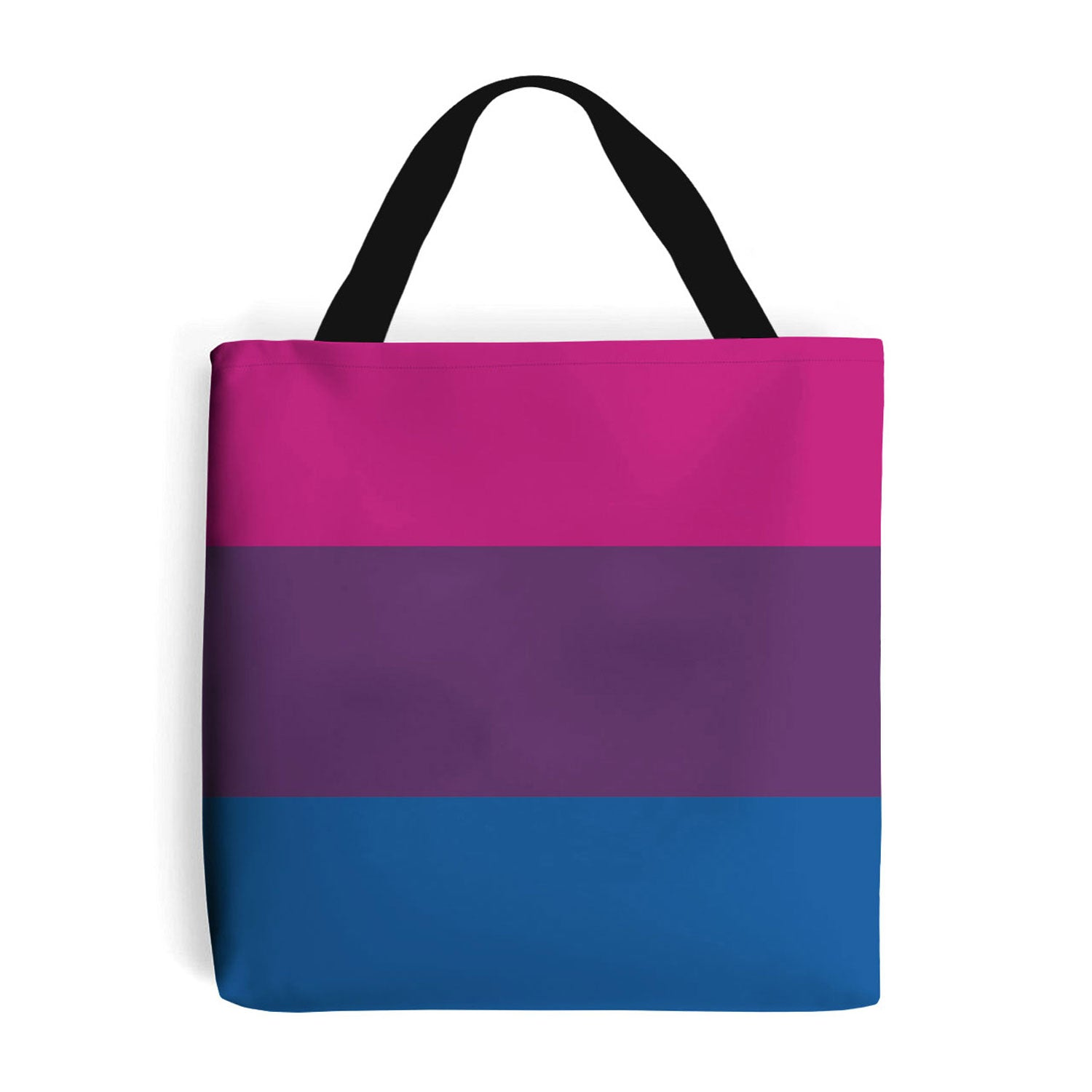 shopping bag with bi pride flag design
