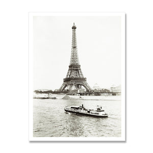 photographic print of the eiffel tower in paris from around 1900