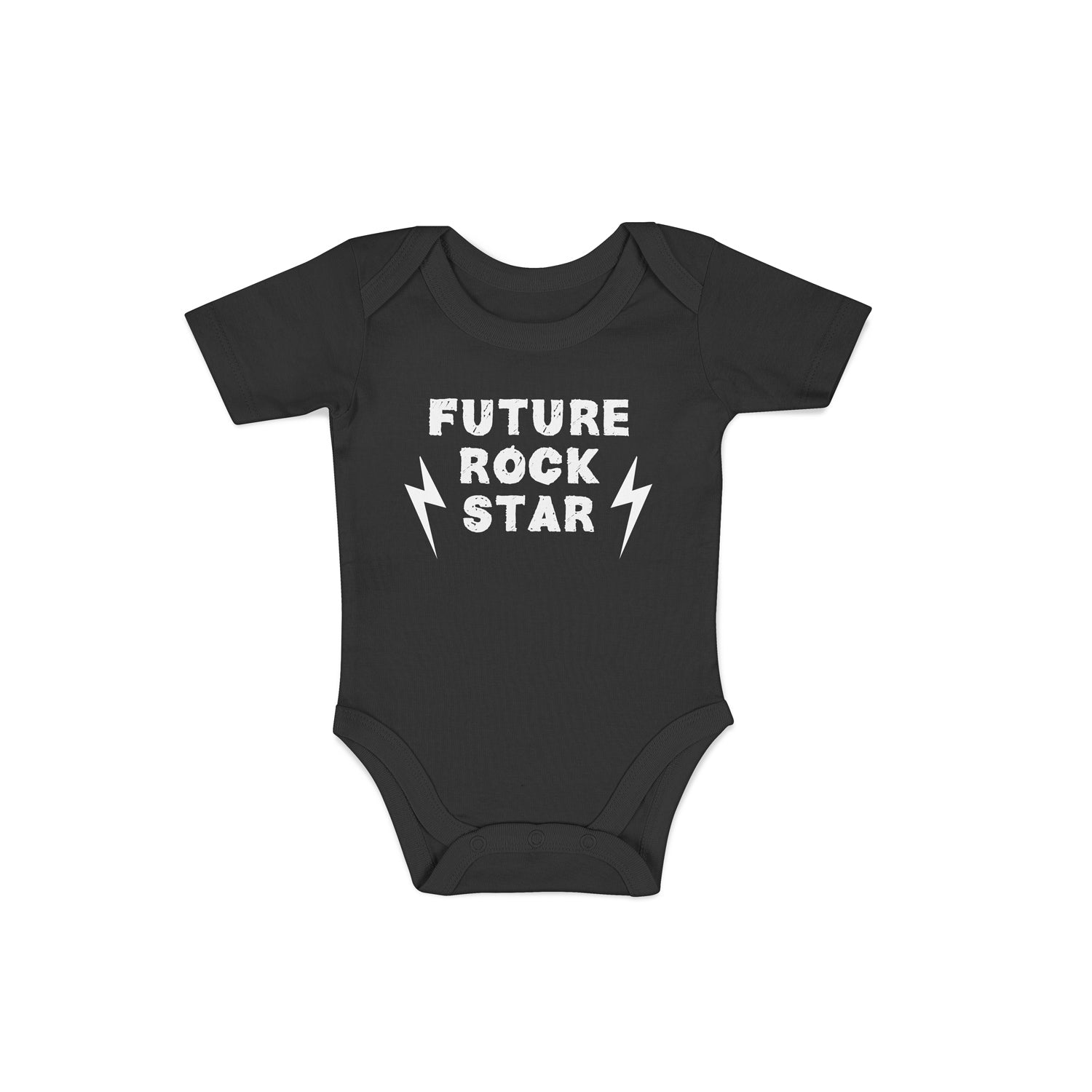 'Future rock star' baby grow in black