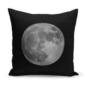 black cushion with full moon design