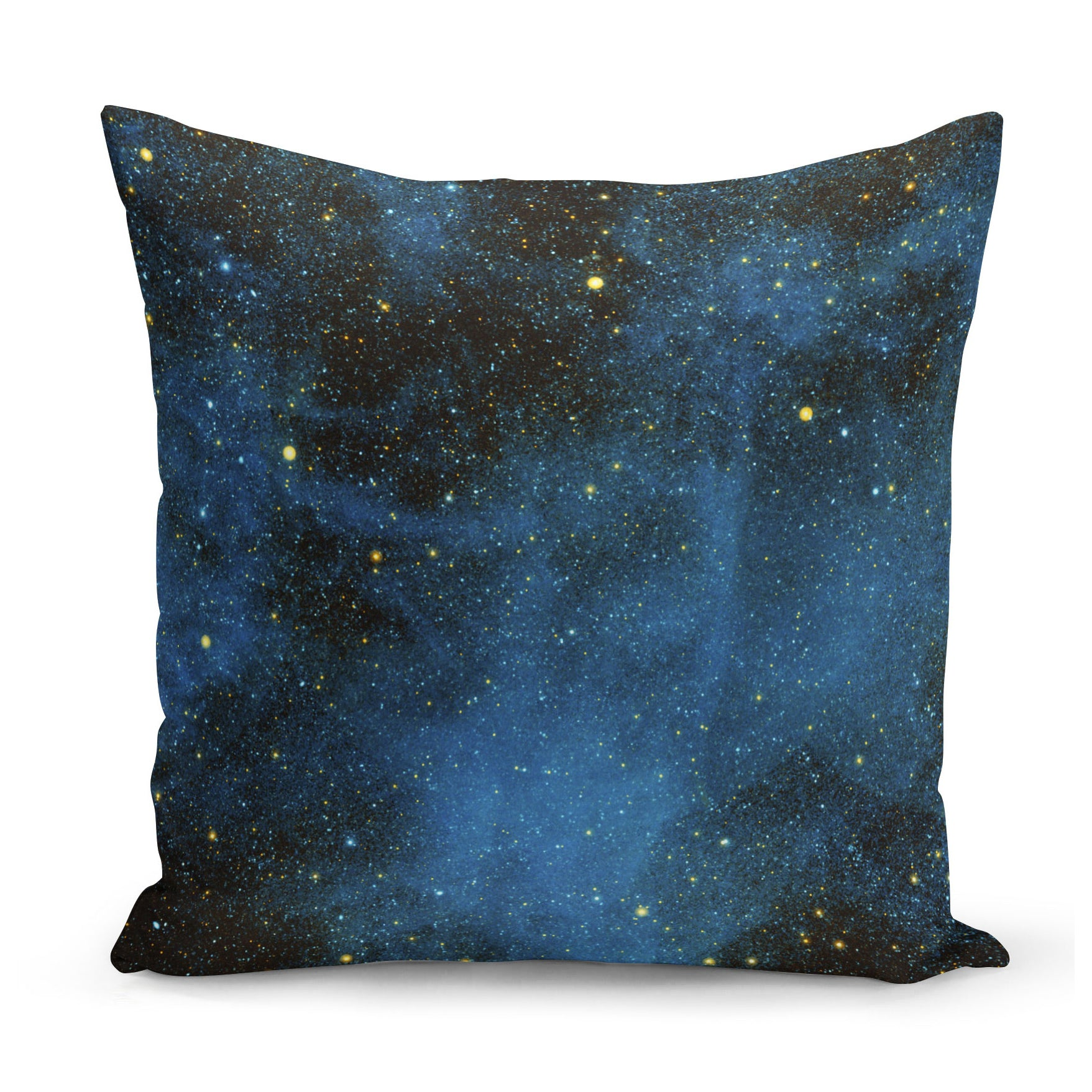 cushion showing image of space, specifically the star CW Leo