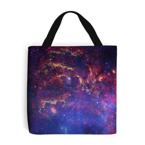 purple shopping bag showing the Milky Way