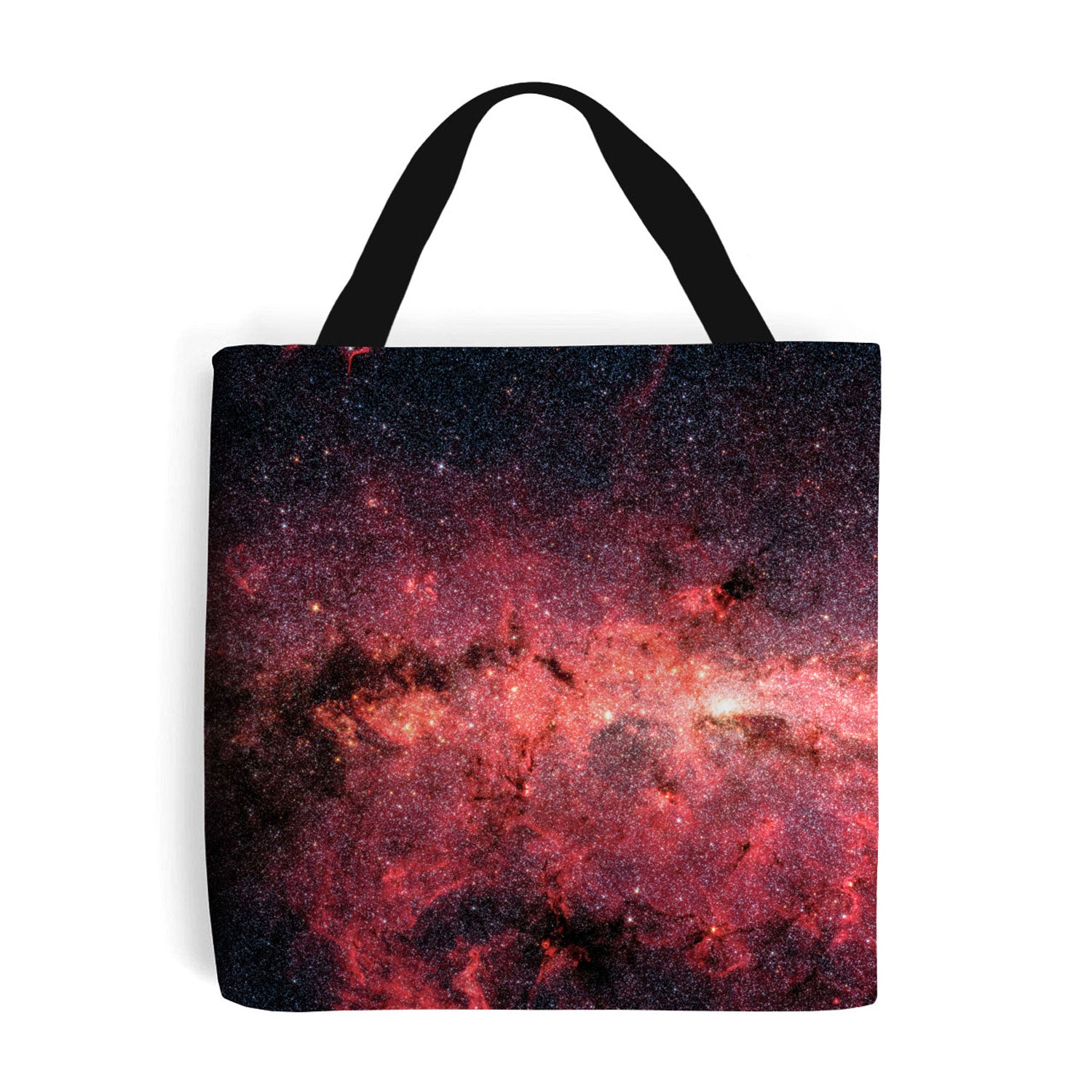 red shopping bag showing the Milky Way