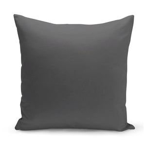 plain grey cushion
