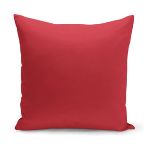 plain red cushion