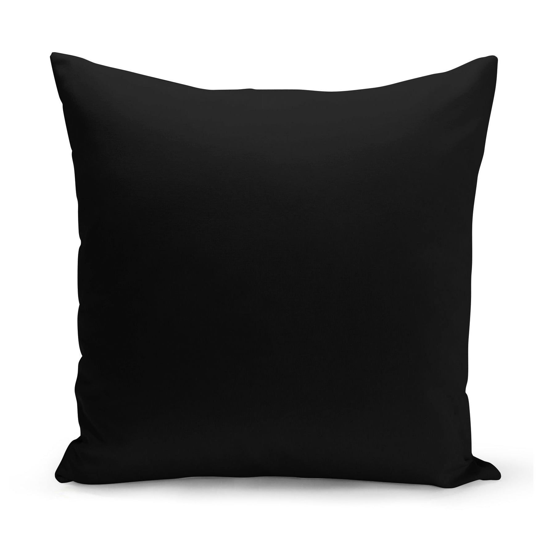 plain black cushion