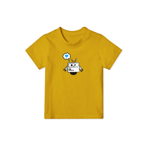 yellow t shirt for chlldren with robot design