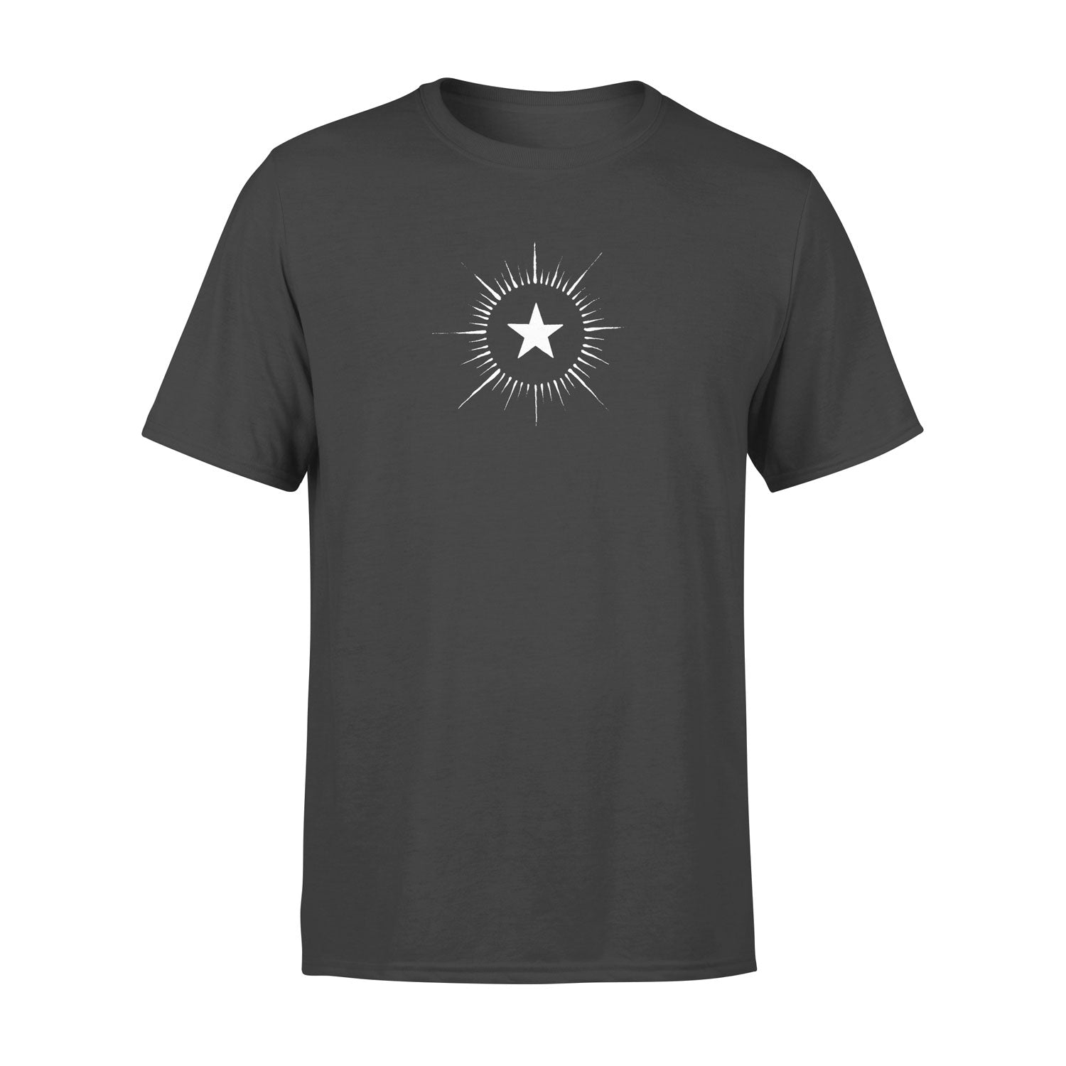 grey men's t shirt with vintage star design