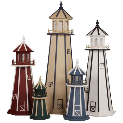 Hand-Made Amish Poly Lighthouses