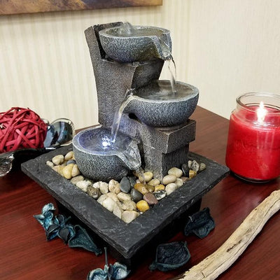 Danner Manufacturing Aura Meditation Fountain on a dining room table