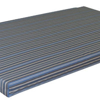 A&L Furniture Weather-Resistant Acrylic Cushion for VersaLoft Mission Daybeds, Blue Stripe