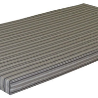 A&L Furniture Weather-Resistant Acrylic Cushion for VersaLoft Mission Daybeds, Gray Stripe