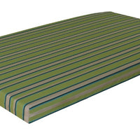 A&L Furniture Weather-Resistant Acrylic Cushion for VersaLoft Mission Daybeds, Lime Stripe