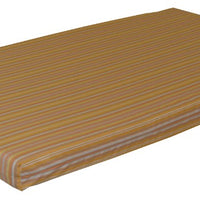 A&L Furniture Weather-Resistant Acrylic Cushion for VersaLoft Mission Daybeds, Orange Stripe