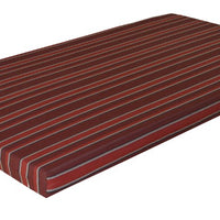 A&L Furniture Weather-Resistant Acrylic Cushion for VersaLoft Mission Daybeds, Red Stripe