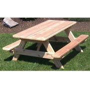 A&L Furniture Company 4' Amish-Made Cedar Kids Picnic Table
