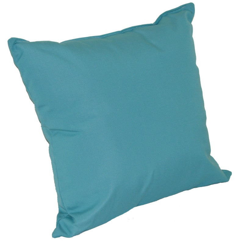 A&L Furniture Weather-Resistant Outdoor Acrylic Throw Pillow, Aqua