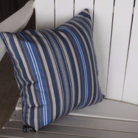 A&L Furniture Weather-Resistant Outdoor Acrylic Throw Pillow, Blue Stripe