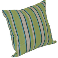 A&L Furniture Weather-Resistant Outdoor Acrylic Throw Pillow, Lime Stripe