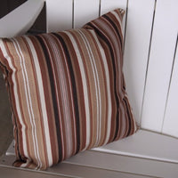 A&L Furniture Weather-Resistant Outdoor Acrylic Throw Pillow, Maroon Stripe