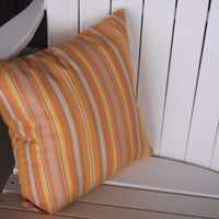 A&L Furniture Weather-Resistant Outdoor Acrylic Throw Pillow, Orange Stripe